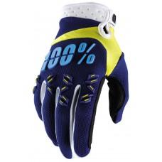 Рукавиці 100% Airmatic синій-жовтий-білий