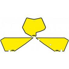 Наклейки на стартовий номер KTM SX 50 жовтий
