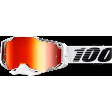 Окуляри 100 % ARMEGA білий-червоний