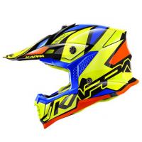 Шолом KAPPA KASK KV39 REVERSE CROSS жовтий-синій-помаранчевий-чорний