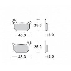Гальмівні колодки MOTO-MASTER NITRO (947-21)