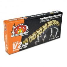 Ланцюг MOTO-MASTER V2-520G MX RACING GOLD