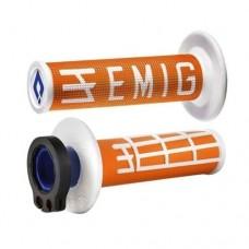 Гріпси ODI MX V2 EMIG RACING помаранчевий-білий