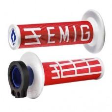 Гріпси ODI MX V2 EMIG RACING червоний-білий
