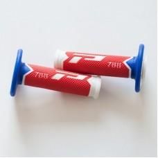Гріпси PROGRIP 788 OFF ROAD (22+25MM, DL.115MM) червоний-білий-синій