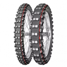 Резина MITAS 120/90-18 TERRA FORCE MX-MH MEDIUM/HARD 65M TT червоний пасок