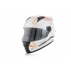 Шолом ACERBIS FS 807 FULL FACE білий-помаранчевий