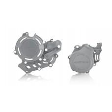 Комплект захисту кришки зчеплення і генератора ACERBIS  KTM SXF 450 16-18 - HUSQ FC 450 16-18 сірий