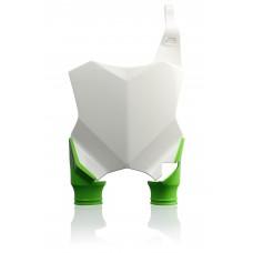 Пластина для номера  FRONT NUMBER PLATES RAPTOR KAWASAKI KXF250 17-18, KXF 450 16-18 білий/зелений