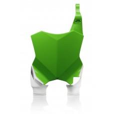 Пластина для номера  FRONT NUMBER PLATES RAPTOR KAWASAKI KXF250 17-18, KXF 450 16-18 зелений-білий